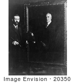 #20350 History Stock Photo Of Artist Edmund Hodgson Smart Painting A Portrait Of President Warren Harding