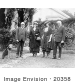 #20358 History Stock Photo Of President Harding Laddie Boy And Pop Anson And His Daughters
