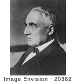 #20362 History Stock Photo Of Warren G Harding In Profile