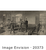 #20373 History Stock Photo Of The Assassination Of President James A Garfield