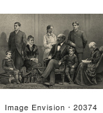 #20374 History Stock Photo of the 20th American President James Garfield and Family by JVPD