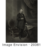 #20381 Historical Stock Photo of Ulysses S. Grant, the 18th American President by JVPD