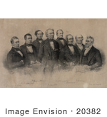 #20382 Historic Stock Photo Of The 12th American President Zachary Taylor And His Cabinet Officers