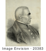 #20383 Historic Stock Photo Of Zachary Taylor The 12th President Of The United States In Profile