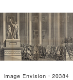 #20384 Historic Stock Photo Of The Presidential Inauguration Of Zachary Taylor