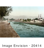 #20414 Historical Stock Photography Of The Stream Of Barada Damascus Holy Land Syria