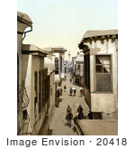#20418 Historical Stock Photography Of A Street Called Straight In Damascus Holy Land Syria