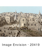 #20419 Historical Stock Photography Of The Market Place In Bethlehem