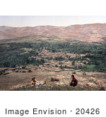 #20426 Historical Stock Photography Of A View Of Zebdany Az-Zabdani Syria