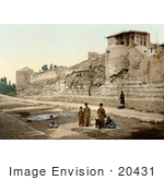#20431 Historical Stock Photography Of The Wall Over Which St Paul Escaped Damascus Holy Land Syria