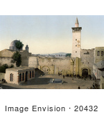 #20432 Historical Stock Photography Of The Gate Of The Street Called Straight Damascus Holy Land Syria
