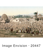#20447 Historical Stock Photography Of The Cemetery Where The Family Of Mahomet Are Buried Damascus Holy Land Syria