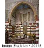 #20448 Historical Stock Photography Of The Living Room Interior Of A House In Damascus Holy Land Syria