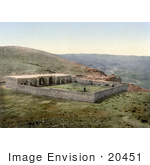 #20451 Historical Stock Photography Of A Building On The Road To Jericho Khan-El-Ahmar Holy Land West Bank
