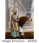 #20453 Historical Stock Photography Of Two Men Praying Holy Land