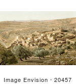 #20457 Historical Stock Photography Of The City Of Bethany Holy Land Jerusalem