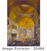 #20464 Stock Photography Of People In The Nave Of The Hagia Sophia