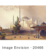 #20466 Stock Photography Of The Courtyard Of The Hagia Sophia