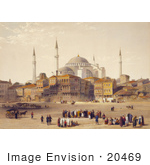 #20469 Stock Photography Of The Church Of Hagia Sophia Before Restoration