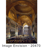 #20470 Stock Photography Of The Nave Of The Ayasofya Mosque