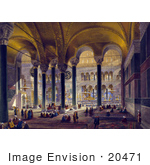 #20471 Stock Photography Of The North Nave Of The Hagia Sophia