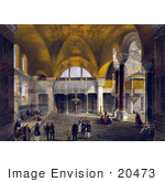 #20473 Stock Photography Of The Gallery And Imperial Tribune Of The Hagia Sophia