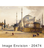 #20474 Stock Photography Of The Church Of Hagia Sophia
