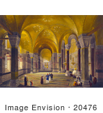 #20476 Stock Photography Of The Entrance Hall Of The Ayasofya Mosque