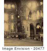 #20477 Historical Stock Photography Of The Interior Part Of The Nave Of Ayasofya Mosque Hagia Sophia