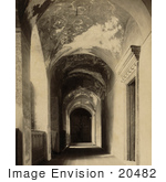 #20482 Historical Stock Photography Of The Narthex (Vestibule) Of Ayasofya Mosque Hagia Sophia Istanbul Turkey