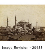#20483 Historical Stock Photography Of The Church Of Hagia Sophia