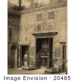 #20485 Historical Stock Photography Of The Central Interior Door Of Ayasofya Mosque Hagia Sophia Istanbul Turkey