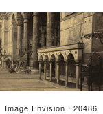 #20486 Historical Stock Photography Of The Interior Part Of The Nave In The Ayasofya Mosque