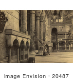 #20487 Historical Stock Photography Of The Interior Part Of The Nave In The Ayasofya Mosque
