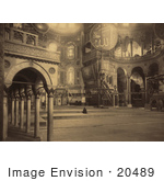 #20489 Historical Stock Photography Of The Interior Part Of The Nave In The Ayasofya Mosque