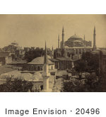 #20496 Historical Stock Photography Of The Ayasofya Mosque Church Of Hagia Sophia And St Irene Istanbul Turkey