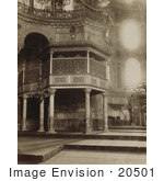 #20501 Historical Stock Photography Of The Sultan'S Imperial Gallery In Ayasofya Camii Ayasofya Mosque