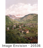 #20536 Historical Photochrome Stock Photography Of The Gries-Bozen Rosengarten Tyrol Austria