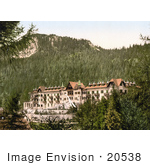 #20538 Historical Photochrome Stock Photography Of Hotel Penegal Surrounded By Trees In Tirol Austria