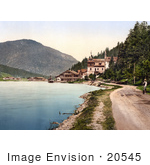 #20545 Historical Photochrome Stock Photography Of A Steamboat By A Building In Eben Am Achensee Scholastica Tyrol Austria