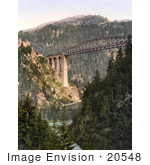 #20548 Historical Photochrome Stock Photography Of The Trisanna Bridge At Castle Wiesberg