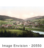 #20550 Historical Photochrome Stock Photography Of The Semmering Railway Murzzschlag Austria