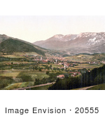 #20555 Historical Photochrome Stock Photography Of The Semmering Railway Payerbach With The Raxalpe Styria Austria