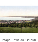 #20568 Historical Photochrome Stock Photography Of The Lakefront Village Of Bregenz Tirol Austria