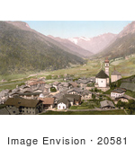 #20581 Historical Photochrome Stock Photography Of The Brenner Railway Gossensass Tyrol Austria