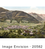 #20582 Historical Photochrome Stock Photography Of The City Of Brixen Tyrol Austria
