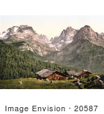 #20587 Historical Photochrome Stock Photography Of The Mouth Of The Brenta And Brenta Group Tyrol Austria
