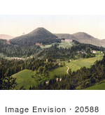 #20588 Historical Photochrome Stock Photography Of The Semmering Railway And Hotel At Semmering Styria Austria