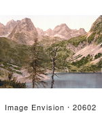 #20602 Historical Photochrome Stock Photography Of The Seebensee Lermoos Tyrol Austria