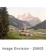 #20605 Historical Photochrome Stock Photography Of Fassathal Fassatal Gries And Vernel Tyrol Austria